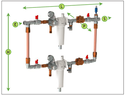 Система редуцирования (понижения давления) и фильтрования