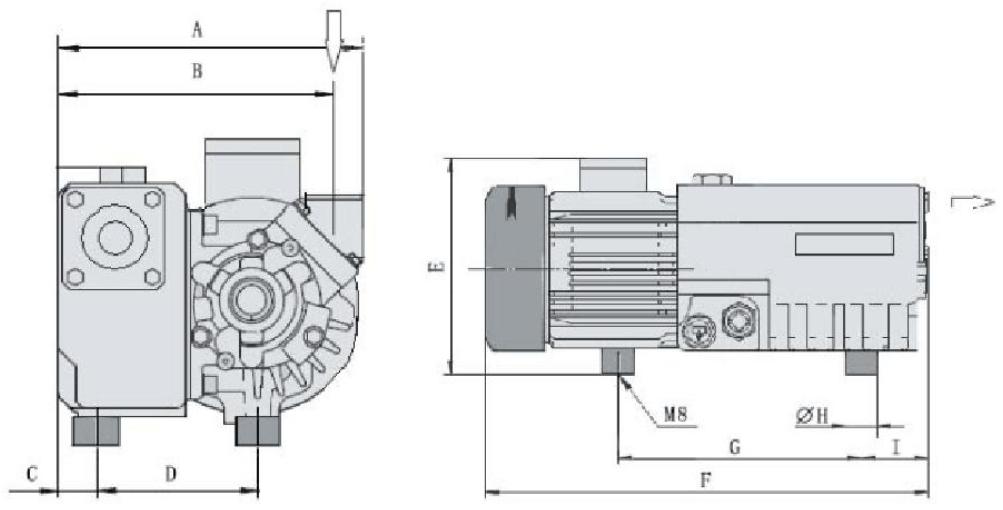Установочные размеры ПРВН SV-010…SV-025