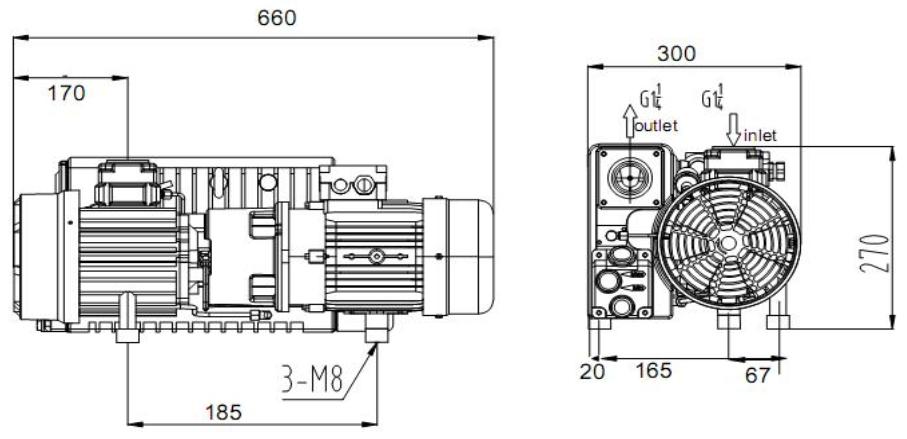 Установочные размеры ПРВН SV-040