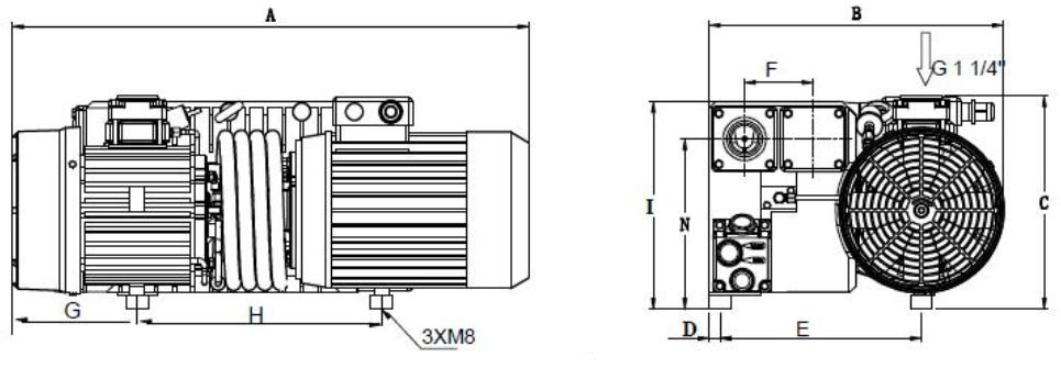 Установочные размеры ПРВН SV-063…SV-100